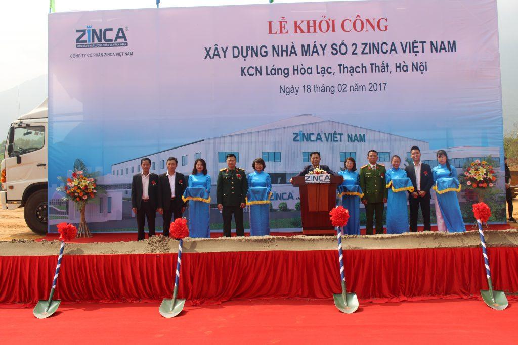 Zinca Việt Nam xây dựng nhà máy số 2 tại Thạch Thất, Hà Nội
